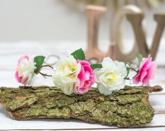 Flower Wreath Wedding Headband Bridal  Tiara FLower Head Crown flower Tiaras Crown Festival wreath crown Flowergirl head band  crown