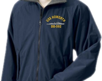 USS HOWORTH DD-592  Embroidered Jacket   New
