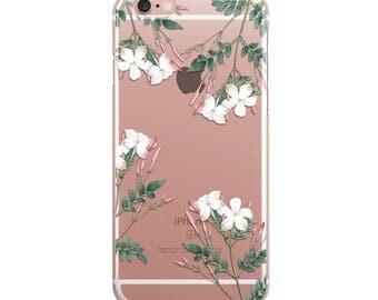 Flowers iPhone Case Clear Transparent Phone Cases Cover Etui 5/5S/6/6S/6PLUS/7/7PLUS KYOUSTUFF