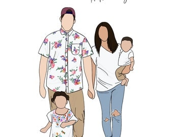 Custom Family Digital Illustration
