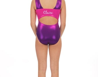 Personalized ombre Gymnastics leotards