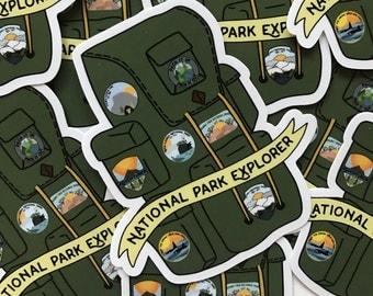 National Park Explorer Vinyl Sticker