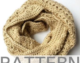Crochet Infinity Scarf Pattern // The Kimberly Scarf