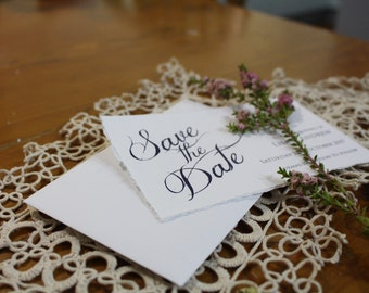 Elegant timeless save the date cards