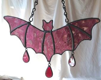 Stained Glass Bat - Bathory Wine - Handmade