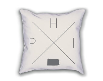 Philadelphia Home Pillow - Pennsylvania Pillow, Pennsylvania Home Decor, Philadelphia Home Decor, Pennsylvania Home Pillow