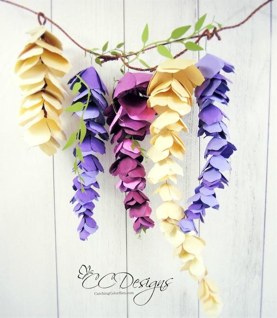 Hanging wisteria paper flowers wisteria templates diy pattern svg il570xn mightylinksfo