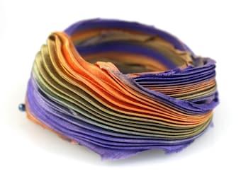 30cm Shibori Silk Ribbon Handmade Silk ribbon #65