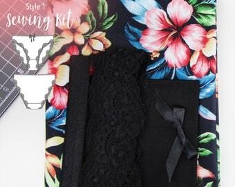 Frankie Panties (STYLE 1) Sewing Kit  - Tropical Florals