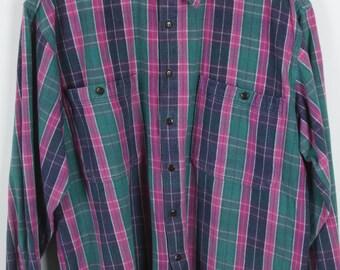 Vintage shirt 80s long sleeves oversized