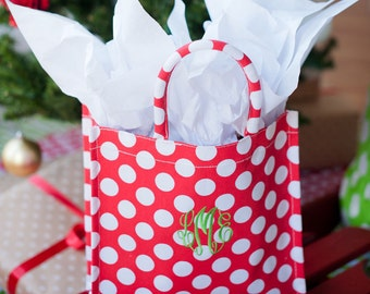 Monogrammed Holiday Tote