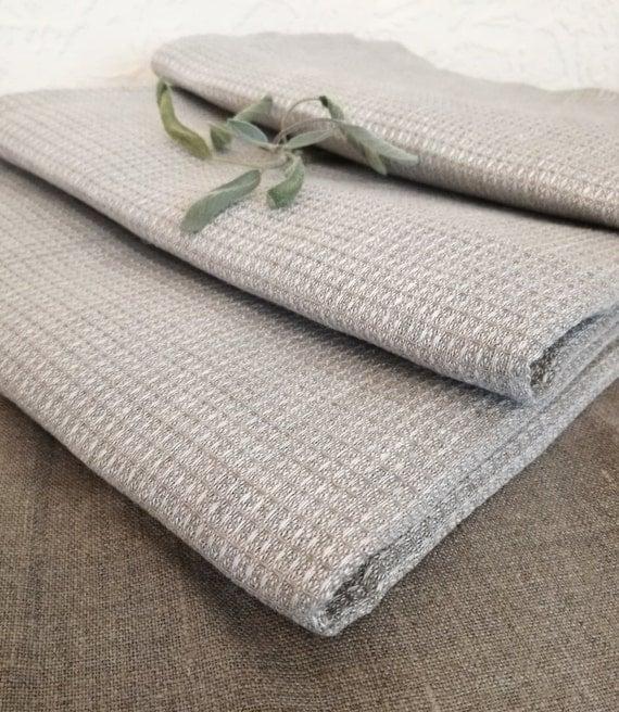 Grey Dish Rags: Kitchen Linen Towels Set Of 3 Gray Linen Dish Towels
