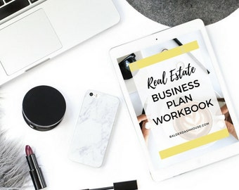 Real Estate Business Plan Workbook, Real Estate Marketing, Real Estate Templates