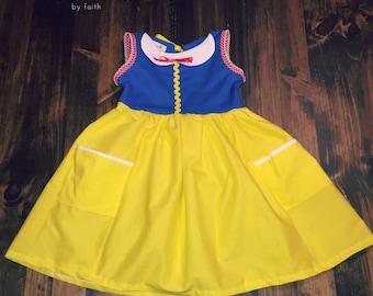 Toddler Classic Princess Dress, Girl Princess Dress, Everyday Princess Dress, Toddler Spring Dress, Girl Spring Dress, Darling Summer Dress