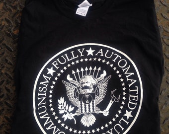Fully Automated Luxury Communism Ramones T shirt