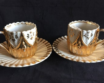 Antique His and Hers Coffee Cups from Germany