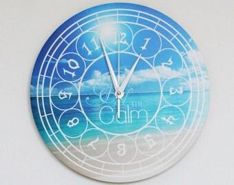 "Nautical Wall Clock - ""Feel the Calm"" (11"")"