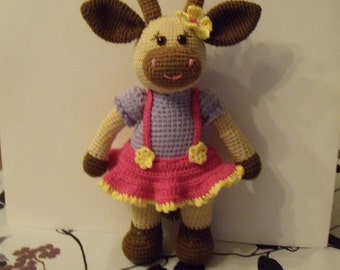 Lilac cow in crochet