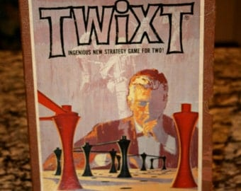 1962 Twixt//Ingenious New Strategy Game For Two//By Minnesota Mining & Manufacturing Co.//Vintage Game