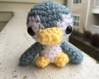 Blue Penguin, Little Penguin, Amigurumi Penguin, Crochet Penguin, Penguin Stuffed Animal, Handmade Plush, Penguin Plush, Baby Penguin