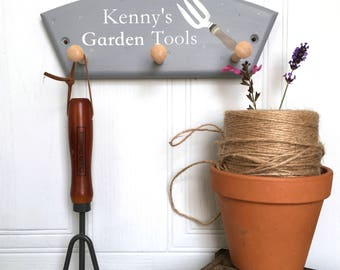 Personalised gardener gift, gifts for gardeners, gardeners gift, Storage hook for gardeners, fathers day gift, mothers day gift,