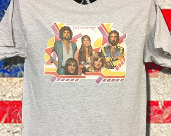 70's Fleetwood Mac NOS very Rare transfer stored away over 30 years. Printed on NOS Super soft and thin. All sizes won't last long Great pic