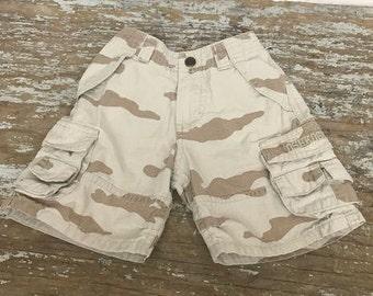 Oshkosh Camouflaged Shorts Cream Navy Cargo Size 3T