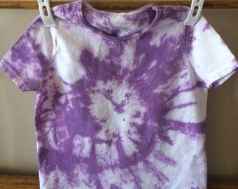 Purple tie-dyed t-shirt sz 4T girls, Hanes Cotton