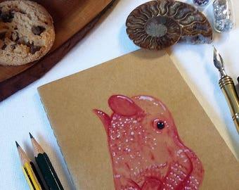 Dumbo Octopus - Flapjack Octopus - Flapjack Devil Fish - Cephalpod - Moleskine Notebook - Sketchbook 9x14cm