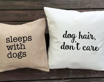 dog pillow dog phrase pillow gift for dog lover custom dog pillow cover