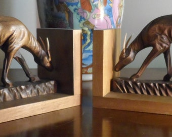Vintage Antelope bookends