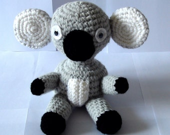 Koala Bear, Crochet Koala Bear, Stuffed Animal, Handmade, Soft Toy, Amigurumi