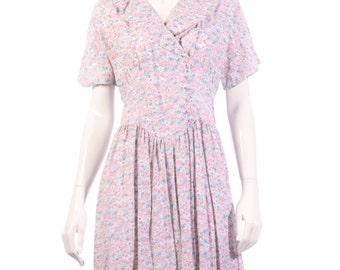 Lagenes vintage pink floral dress