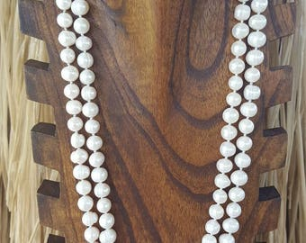 """52"""" Extra Long, Large, Fresh Water Pearl Necklace, Extra Long, Large, Fresh Water Pearls Necklace,  Long, Large, White Fresh Water Pearls"""