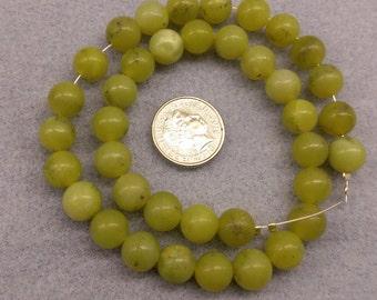Olive Jade 8mm round beads semi precious beads