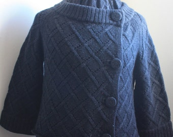 Charcoal Kate Spade Basket Cable Cardigan