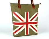 Designer Rustic Tote ~ Utility tote ~ Laptop Tote ~ Leather Tote ~ Canvas Tote ~ England bag ~ Spacious Handbag ~ Travel bag ~ Ready to Ship