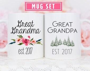 Great Grandma Baby Revel Mug, Baby Reveal to Grandparents Mug, Great Grandpa Baby Reveal Mug, Baby Reveal Mug Great Grandparent, Baby Reveal