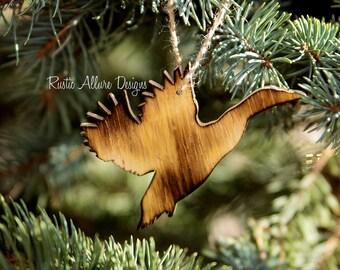 Custom handmade burnt wood Duck ornaments - Set of 3