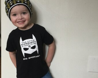 Big Brother announcement shirt new baby super hero big brother shirt big brother tee kids shirt little bro baby announcement