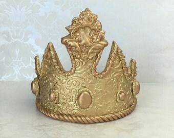 Princess Crown Cake Topper/ Princess Tiara/ Gold Princess Crown Cake Topper/ Gold Princess Tiara Cake Topper/ Princess Baby Shower Cake Top