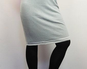 Vintage 90's Knit Sport Casual Midi Pencil Skirt
