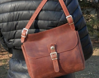 Leather Bag + Leather Shoulder Bag + Leather Shoulder Purse + Handmade Bag + Leather Handbag + Leather Crossbody Bag + Women Messenger Bag