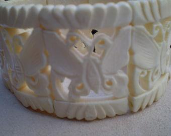 Faux Ivory Vintage Bracelet