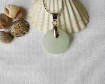 Clear sea glass, Sea glass, sea glass necklace, Seaglass jewelry, sea glass, uk sea glass, beach glass jewelry, beach glass, round sea glass