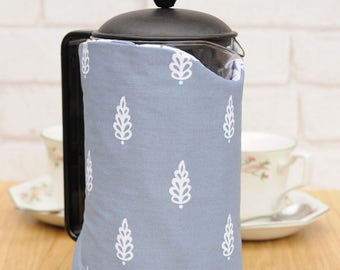 Large Pretty Fabric Thermal Cafetiere Cover Housewarming coffee lover gift