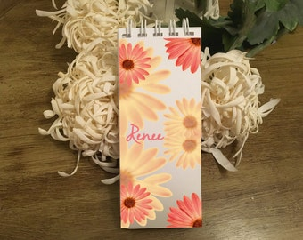 Personalized Gerby Daisy Set 0f 3 Spiral Bound Notepads & To-Do Lists | The Enchanted Envelope