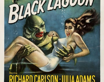 Creature from the Black Lagoon - retro movie poster print 11x17