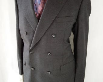 Vintage Gieves and Hawkes of Saville Row Double Breasted Grey Suit