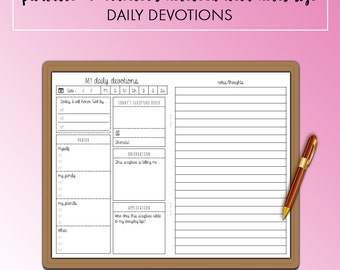 Traveler's Notebook Field Notes Pocket Daily Devotions Christian Insert Printable